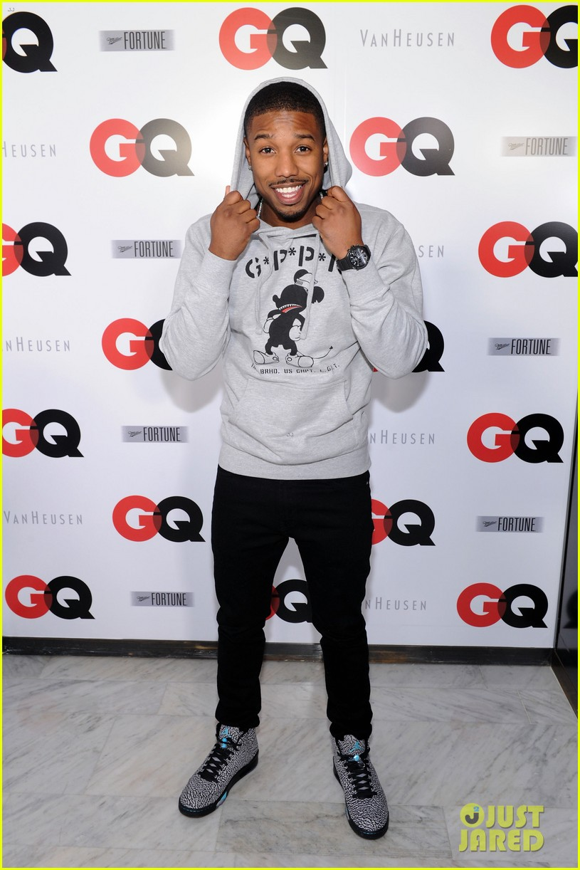 ashley greene michael b jordan gq super bowl party 2014 083045451