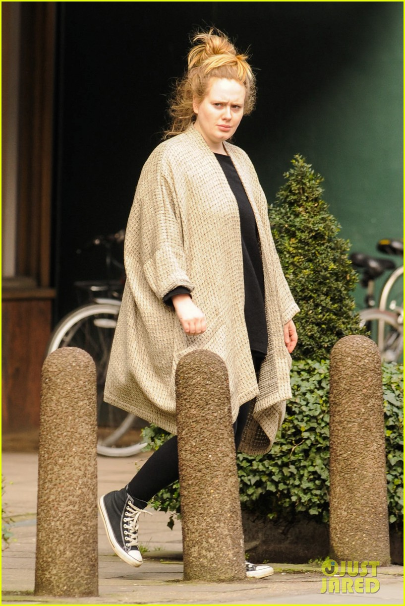 adele makes rare public appearance while shopping sans makeup 11