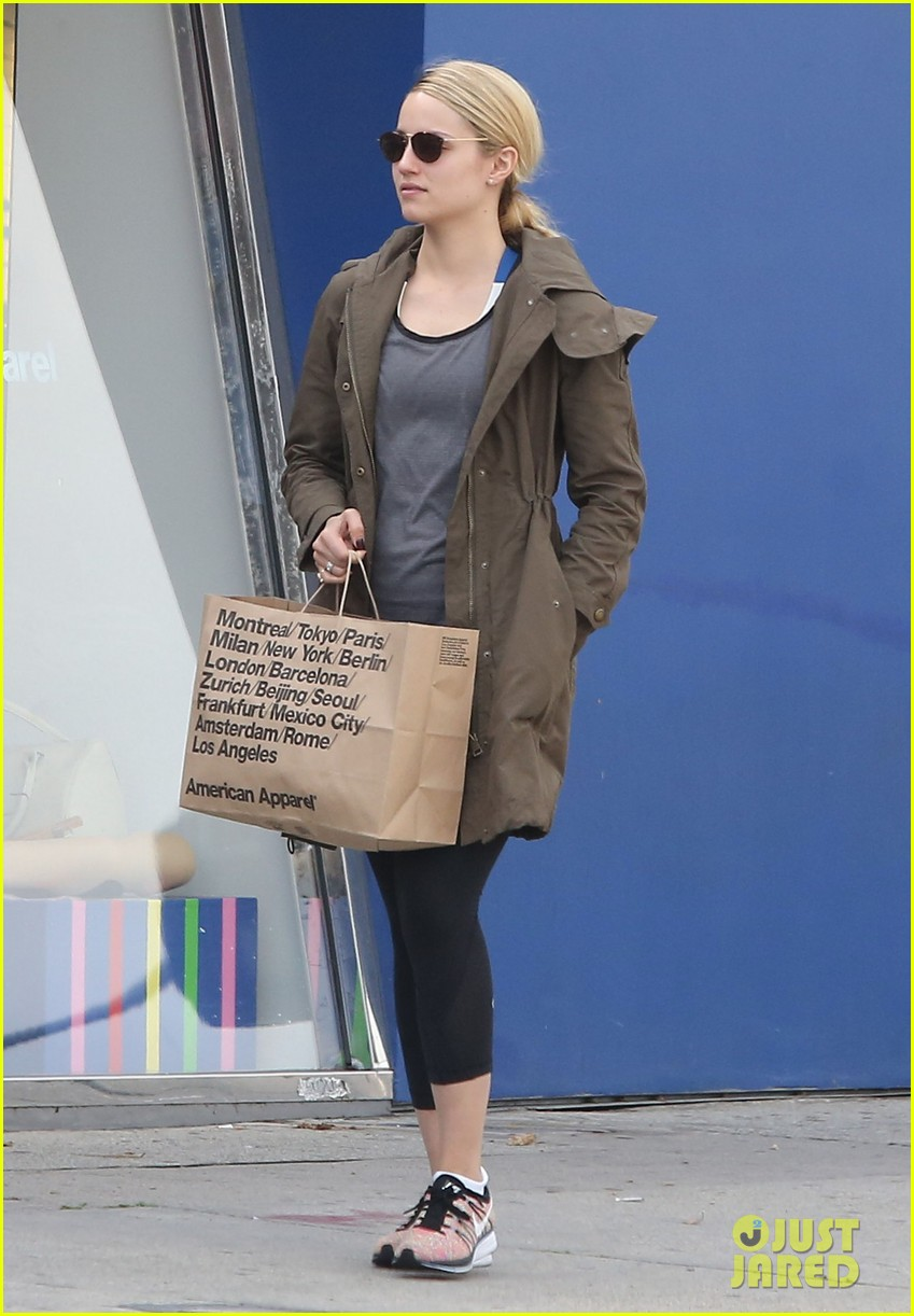 dianna agron gets her shop on at american apparel 09