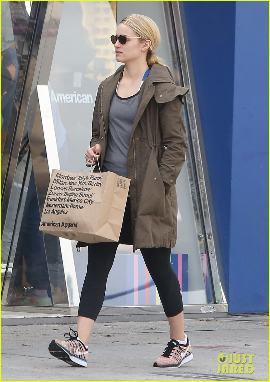 dianna agron gets her shop on at american apparel 10