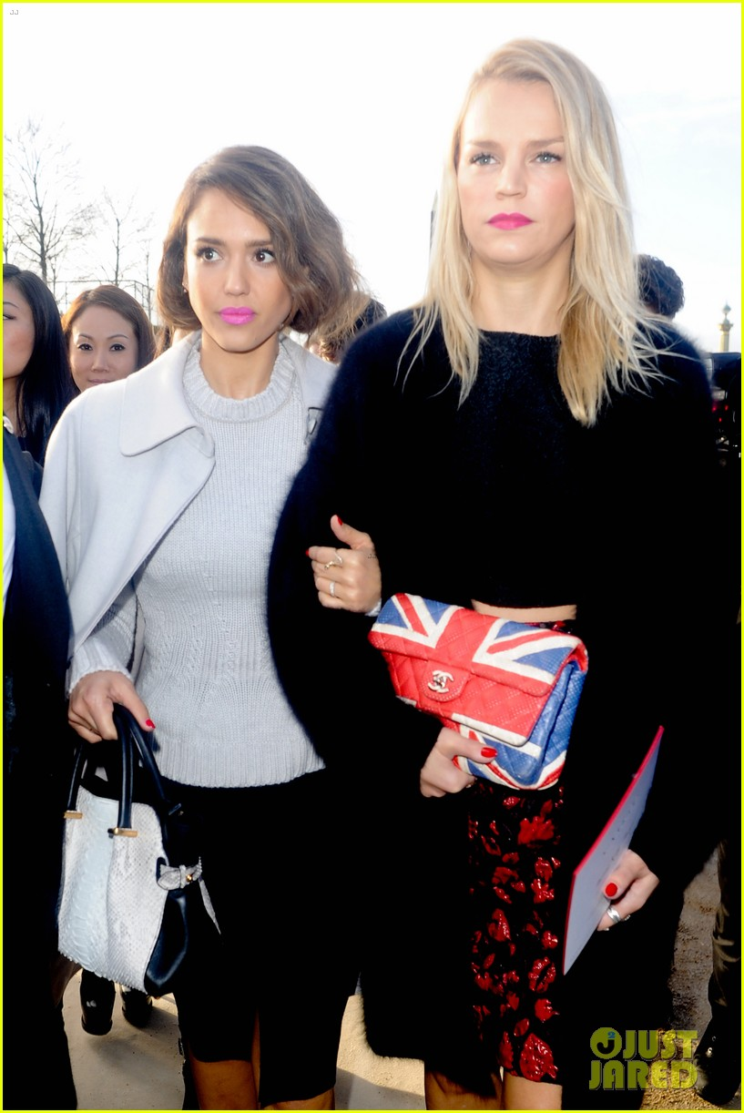jessica alba attends nina ricci show with bff kelly sawyer 093061740
