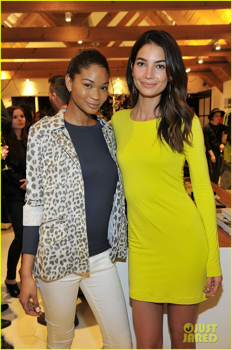 lily aldridge launches velvet line surrounded by celebrity pals 023052060