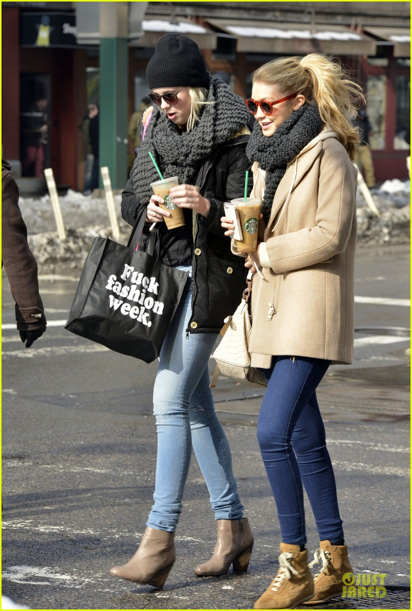 ireland baldwin hangs with gigi hadid on valentines day 01