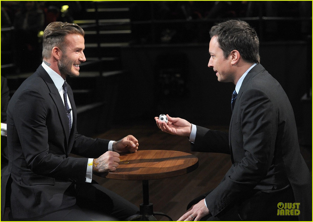 david beckham rocks yolk for egg russian roulette on fallon 23