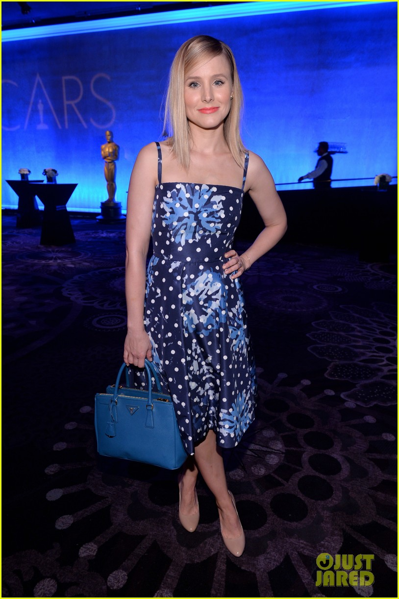 kristen bell oscars nominees luncheon with frozen crew 02