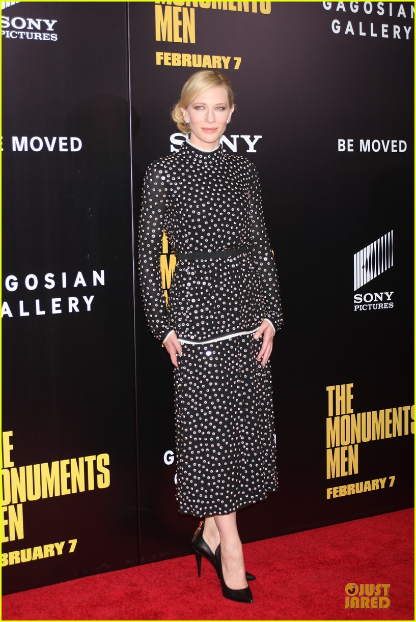 cate blanchett matt damon monuments men nyc premiere 07