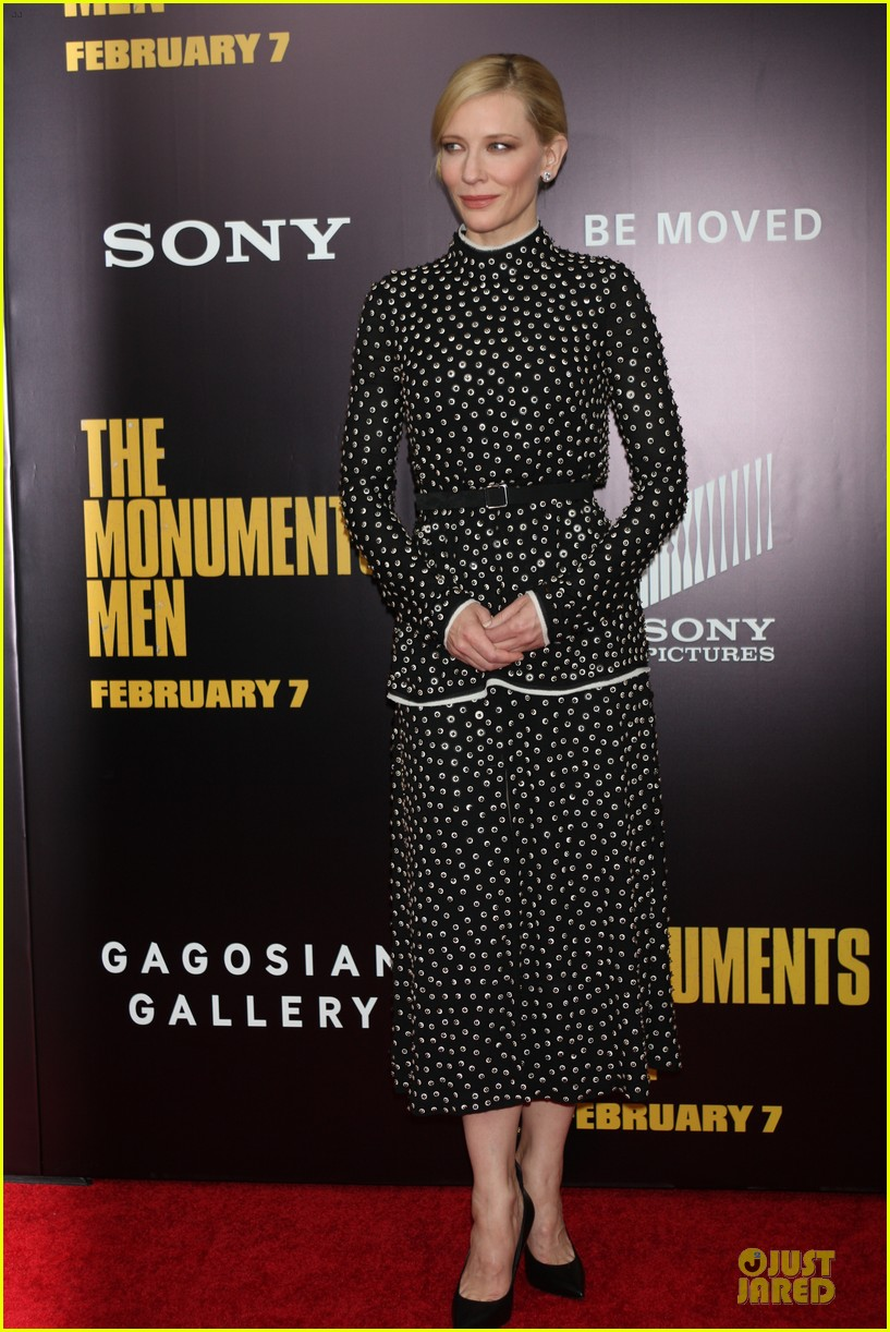 cate blanchett matt damon monuments men nyc premiere 13