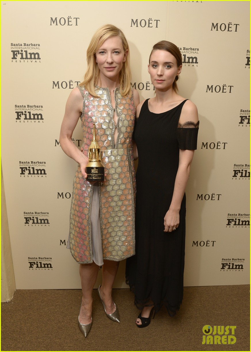 cate blanchett honored by rooney mara at santa barbara film festival 053046124