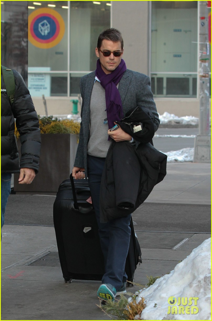 matt bomer partner simon halls check out of nyc hotel 03