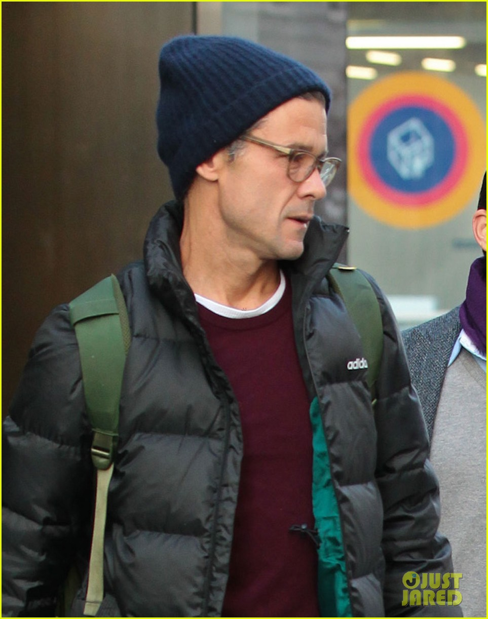 matt bomer partner simon halls check out of nyc hotel 043052229