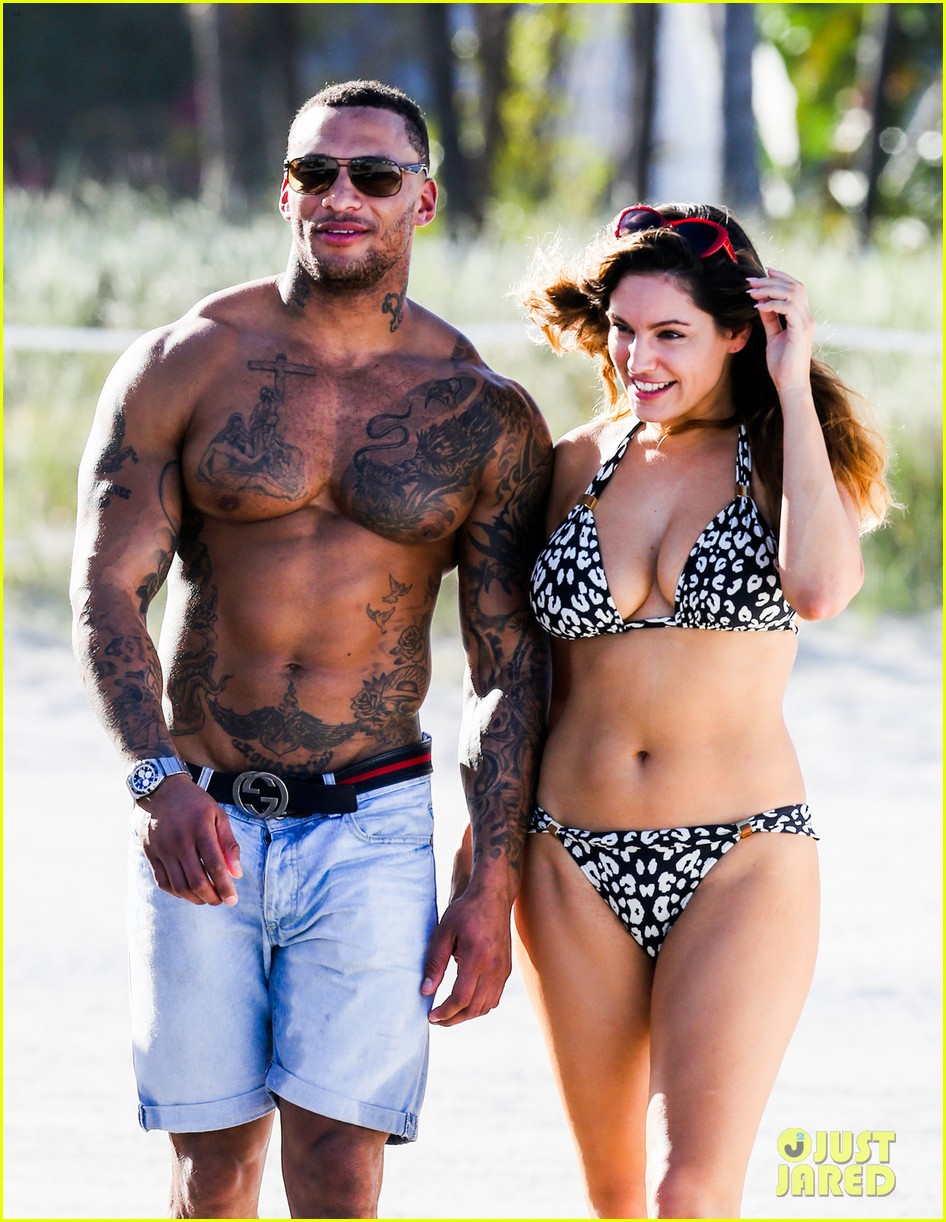 kelly brook bikini babe with macho boyfriend david mcintosh 103046859