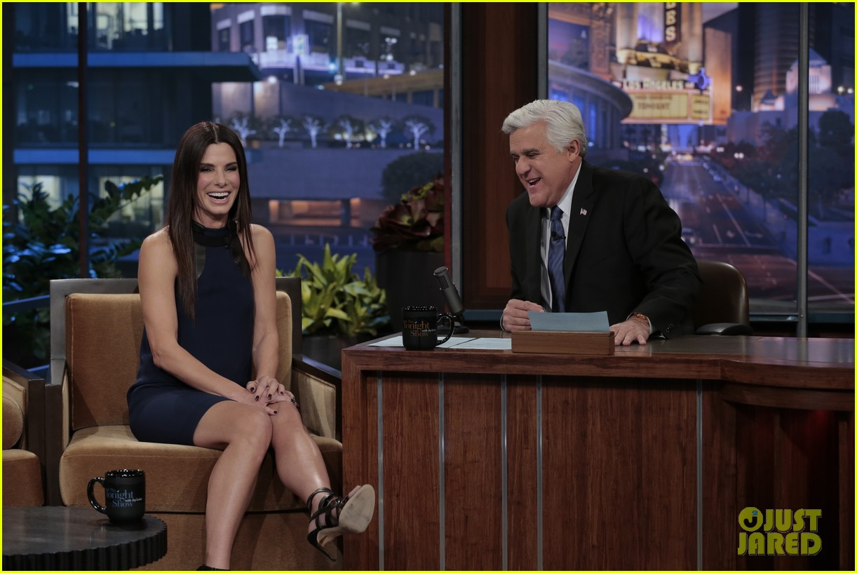 sandra bullock visits jay leno for his second to last show 03