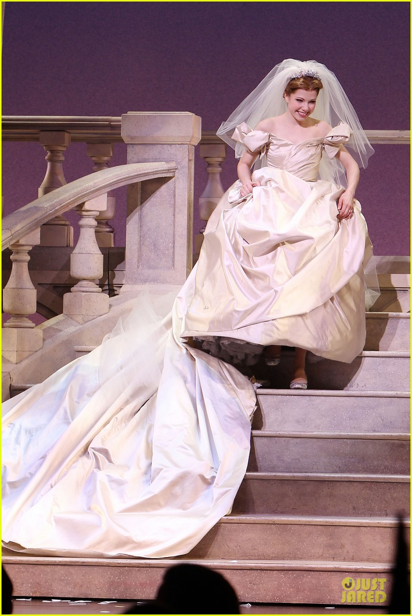 carly rae jepsen dons wedding dress for cinderella curtain call 113047802