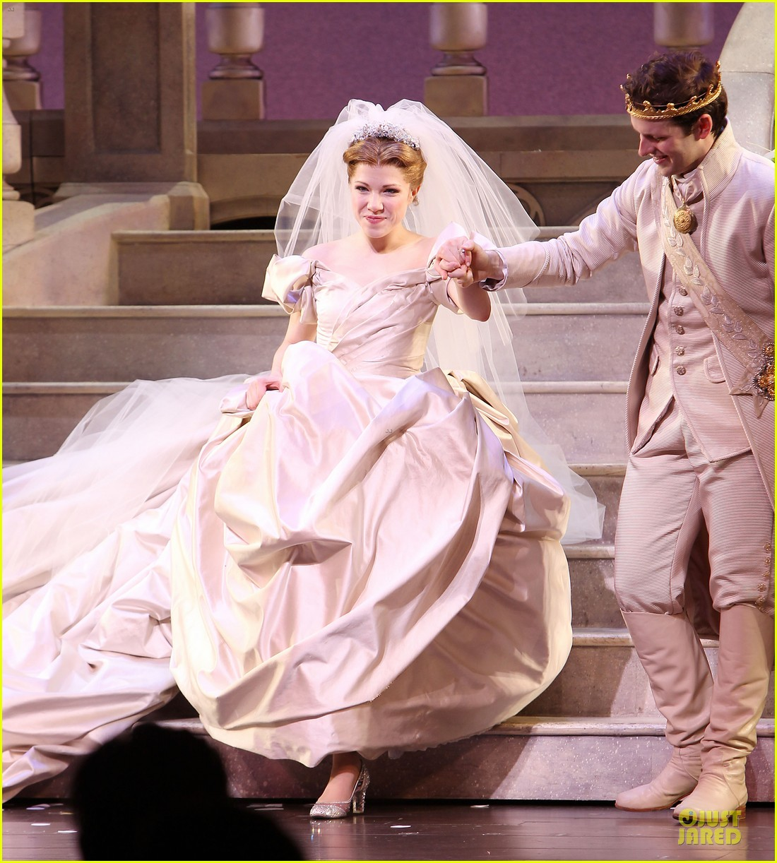 carly rae jepsen dons wedding dress for cinderella curtain call 13