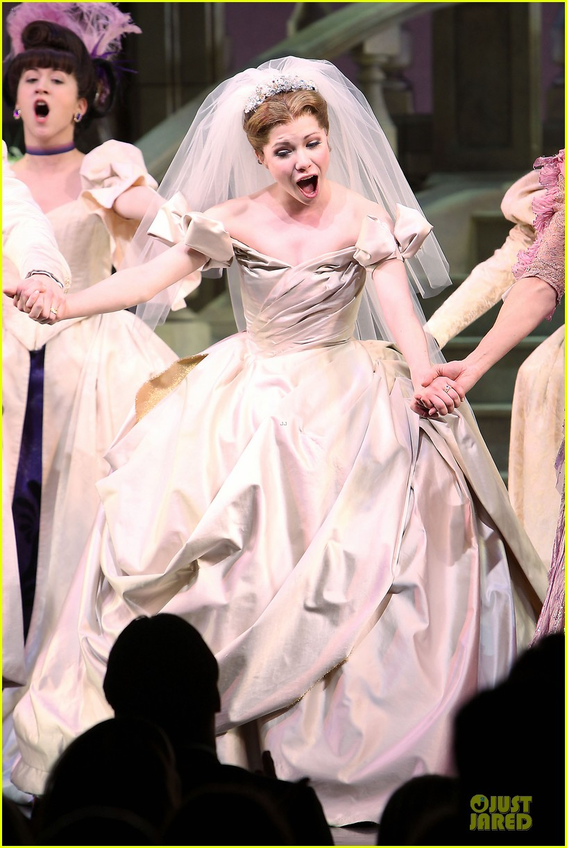 carly rae jepsen dons wedding dress for cinderella curtain call 19