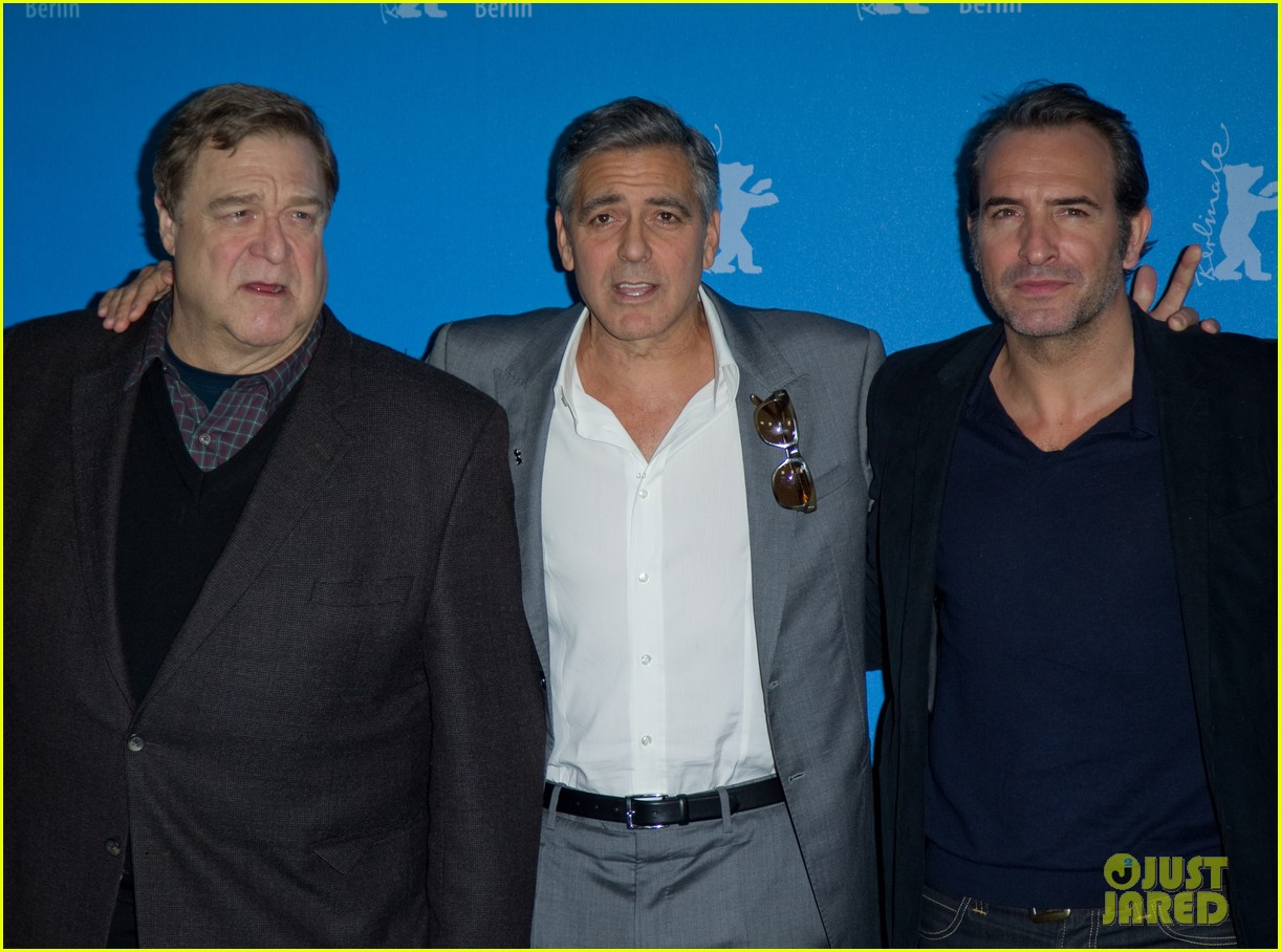 george clooney monuments men cast do the conga 10