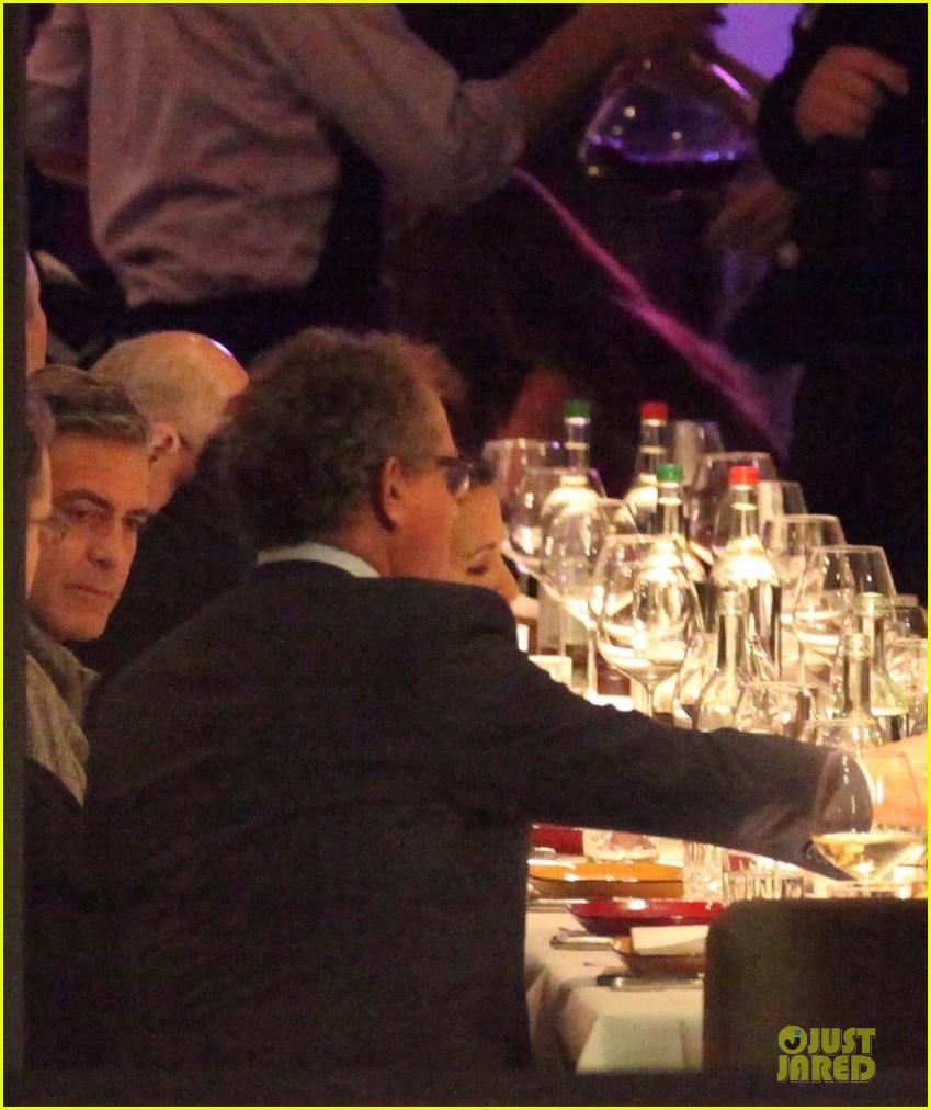 george clooney matt damon monuments men cast dinner before berlin film festival 23