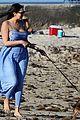 shirtless simon cowell and lauren silverman post baby beachside stroll 02