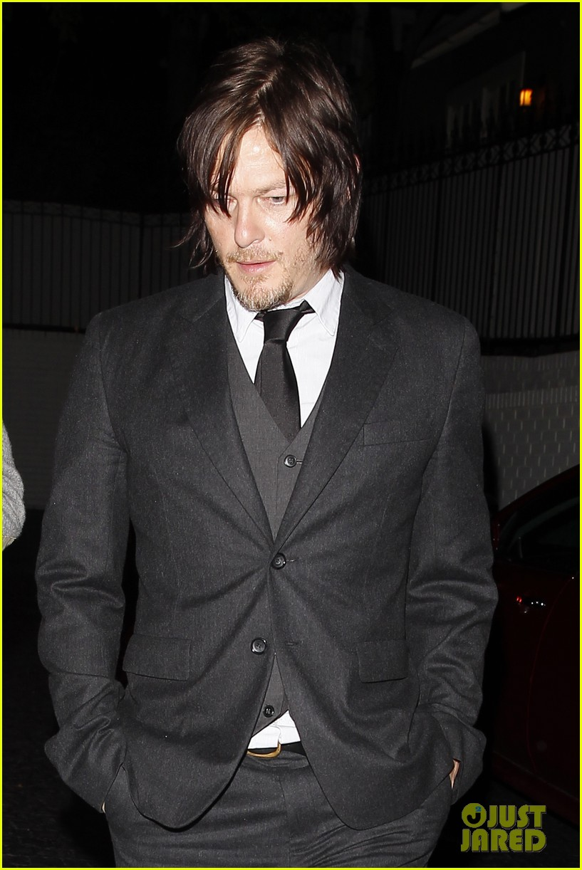 norman reedus steps out with castmates before walking dead premiere 03