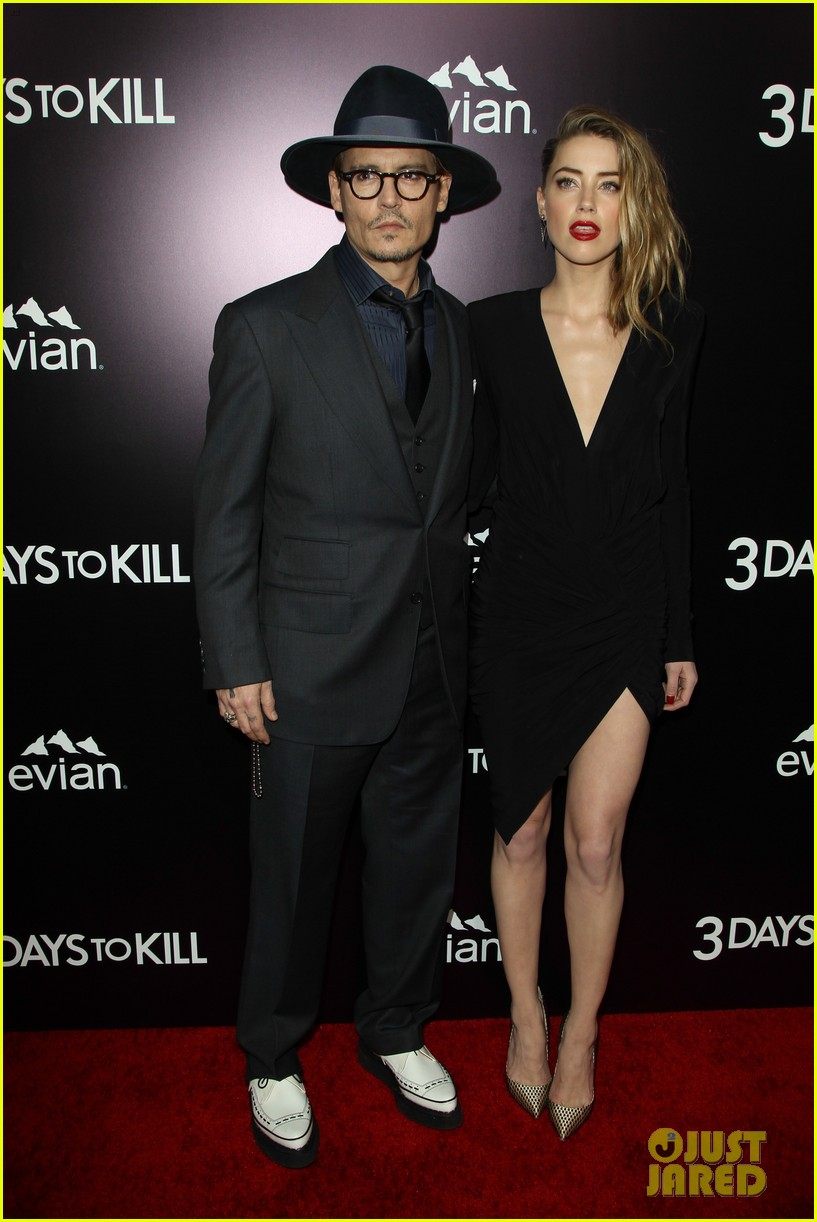 johnny depp supports amber heard at 3 days to kill premiere 083052499