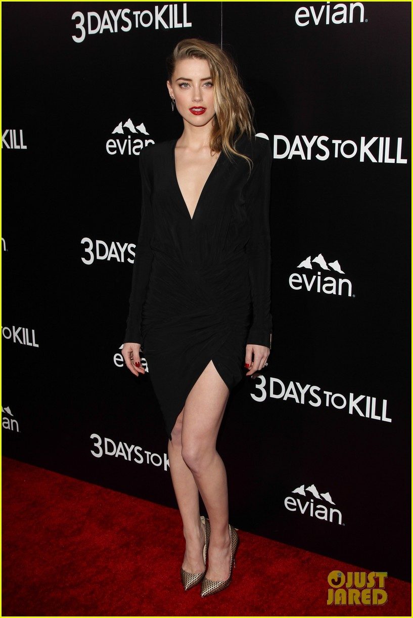 johnny depp supports amber heard at 3 days to kill premiere 18