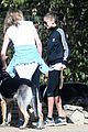 cameron diaz nicole richie walk their dogs together 07