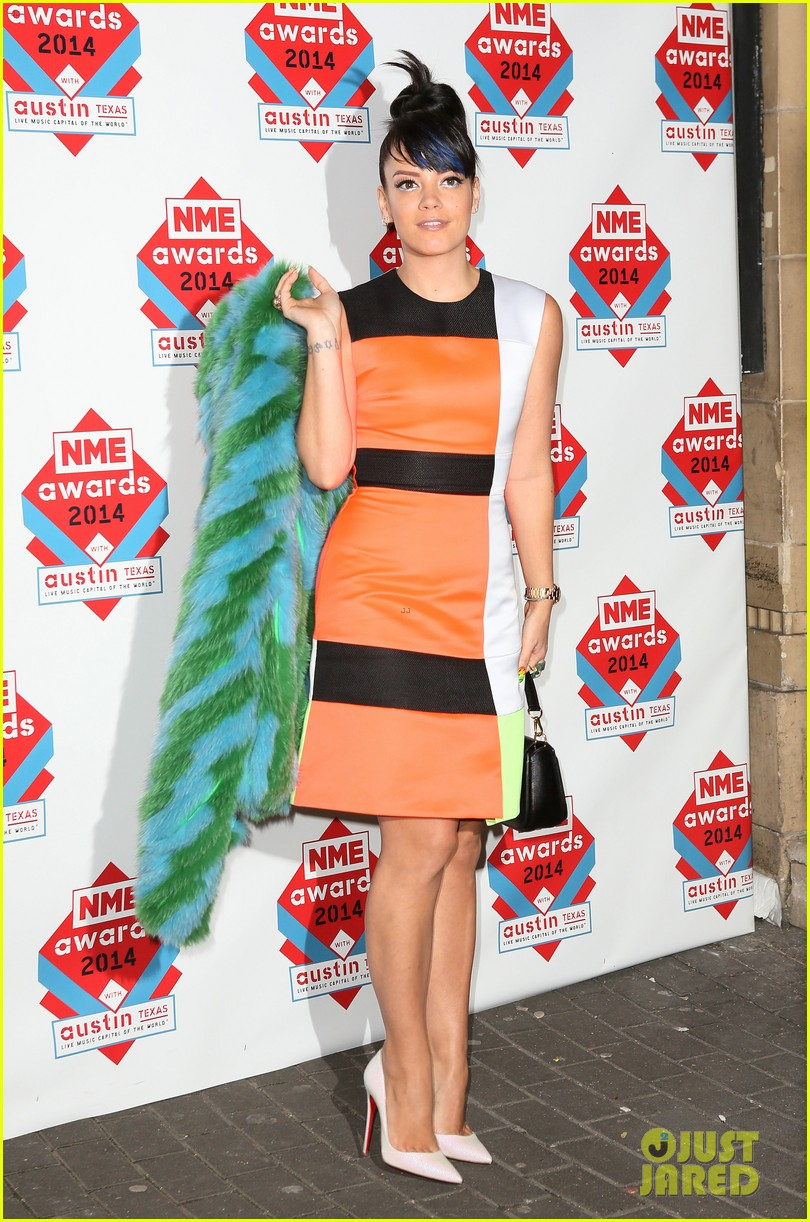 luke evans lily allen nme awards 2014 08