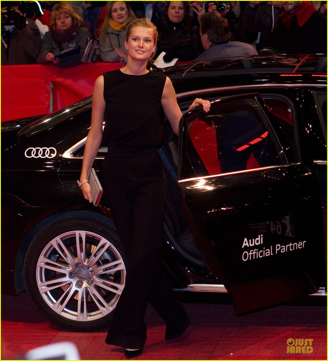 toni garrn bares back at monuments men berlinale premiere 053049787