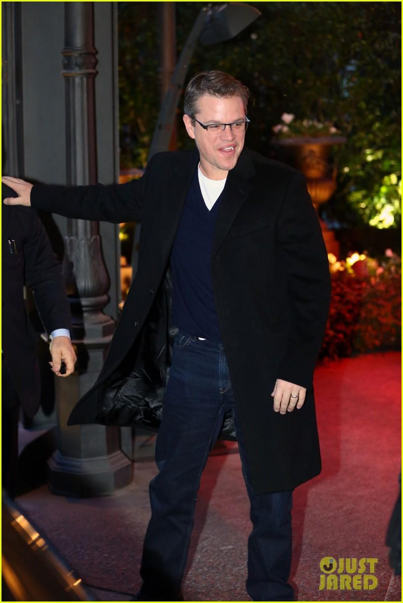george clooney matt damon arrive in milan ahead of monuments men premiere 07