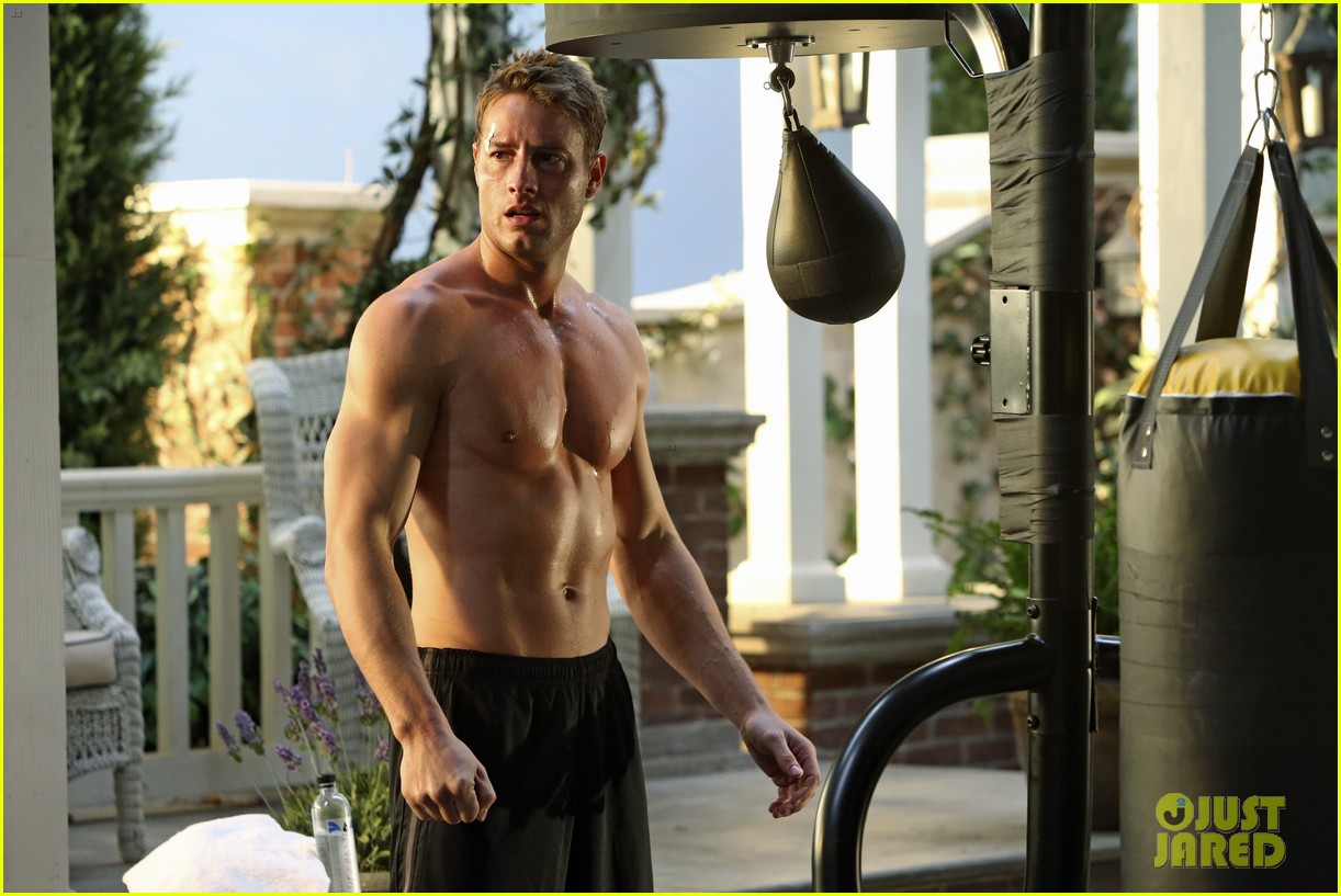 justin hartley goes shirtless sexy in new revenge stills 05