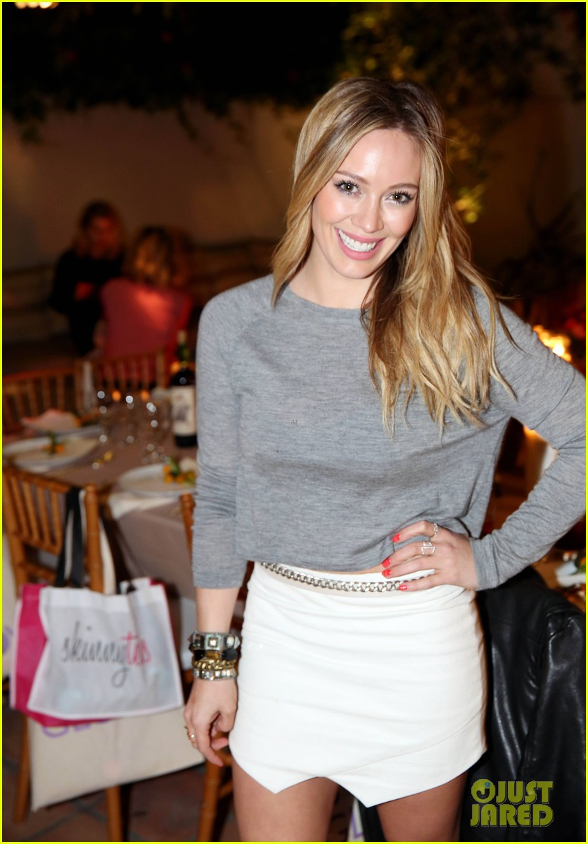 hilary duff how you glow event mike comrie parties in nyc 053045607