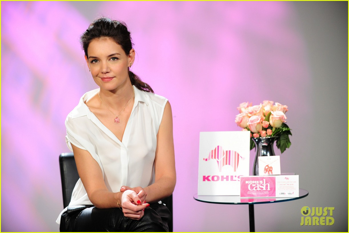 katie holmes teams up with kohl for breast cancer awareness 02