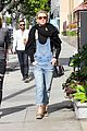 julianne hough sports denim overalls for newsroom brunch 03