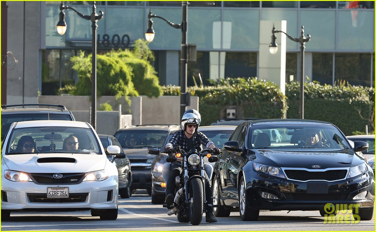 josh hutcherson goes for a motorcycle ride with a gal pal 11