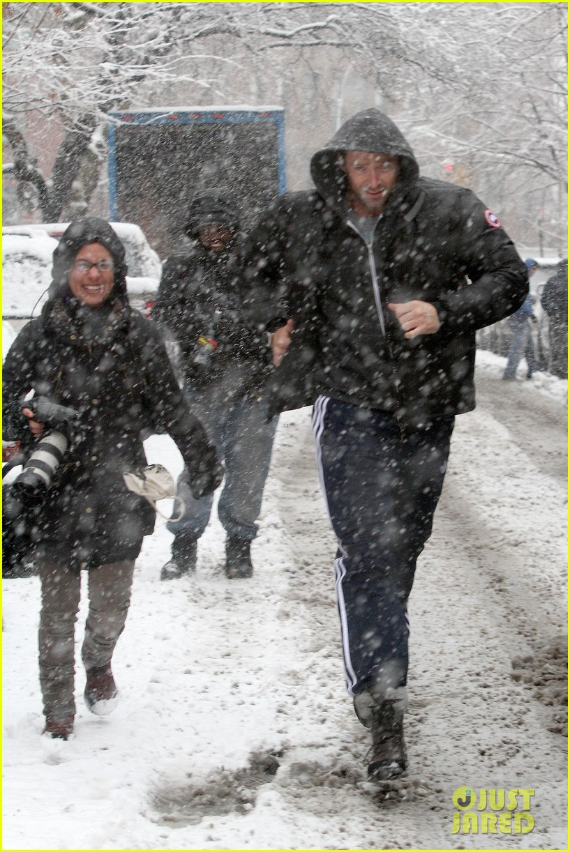 hugh jackman snowy workout after the super bowl 2014 08