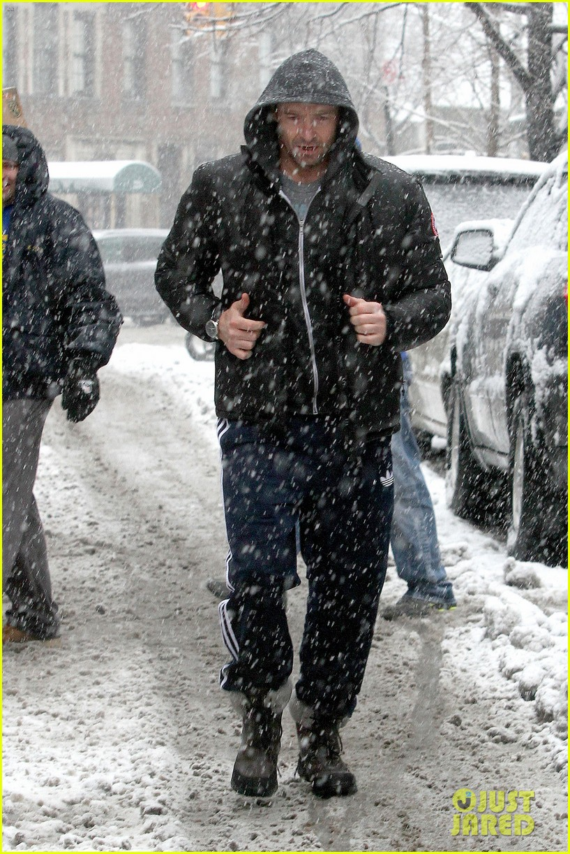 hugh jackman snowy workout after the super bowl 2014 10