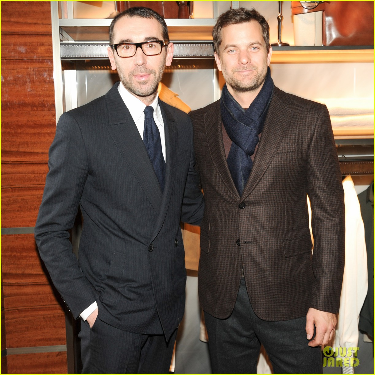 joshua jackson celebrates opening of berlutis first us store 063048989