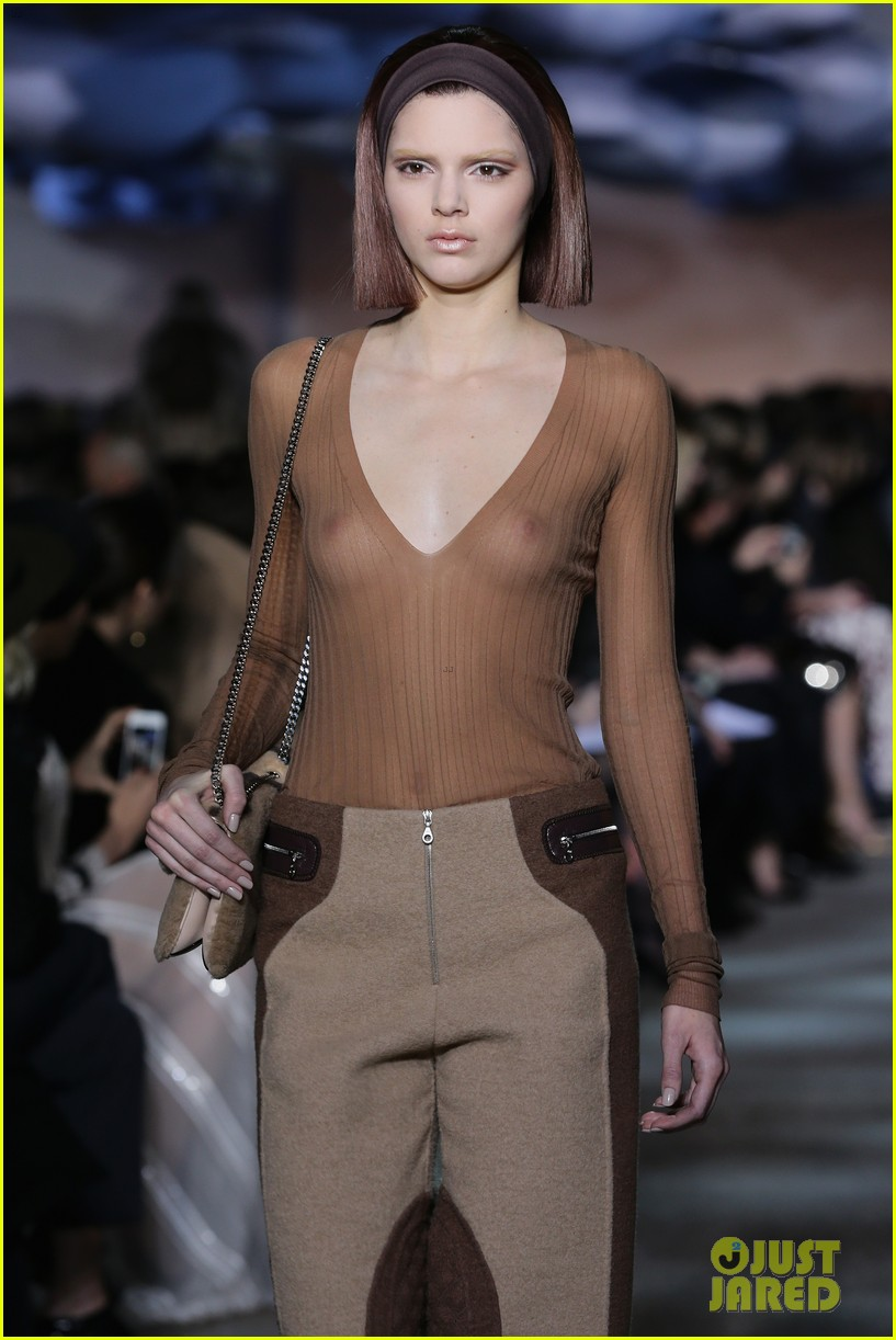 kendall jenner bares breasts in sheer top at marc jacobs fashion show 04