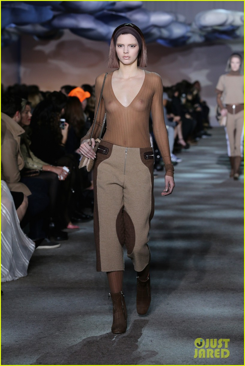 kendall jenner bares breasts in sheer top at marc jacobs fashion show 05