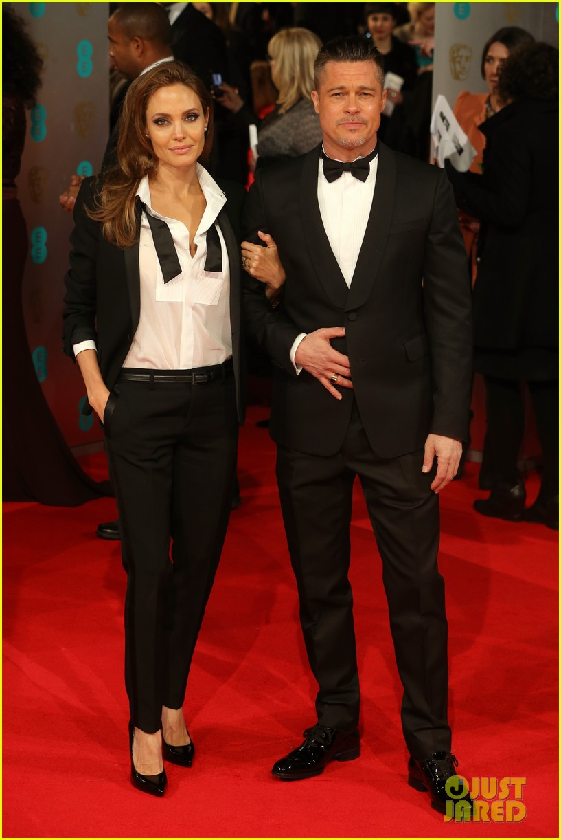 Brad Pitt & Angelina Jolie - BAFTAs 2014 Red Carpet: Photo 3054480 ...