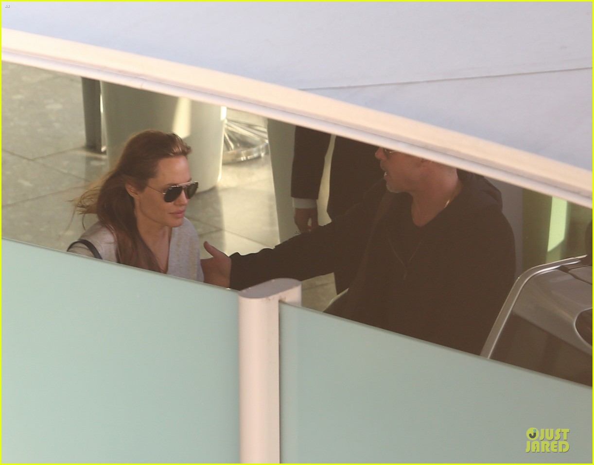 angelina jolie brad pitt post valentines day reunion in london 16