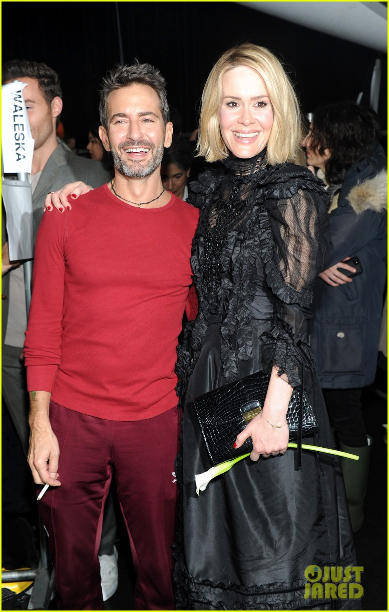 sarah paulson joe jonas end fashion week at marc jacobs 063053193