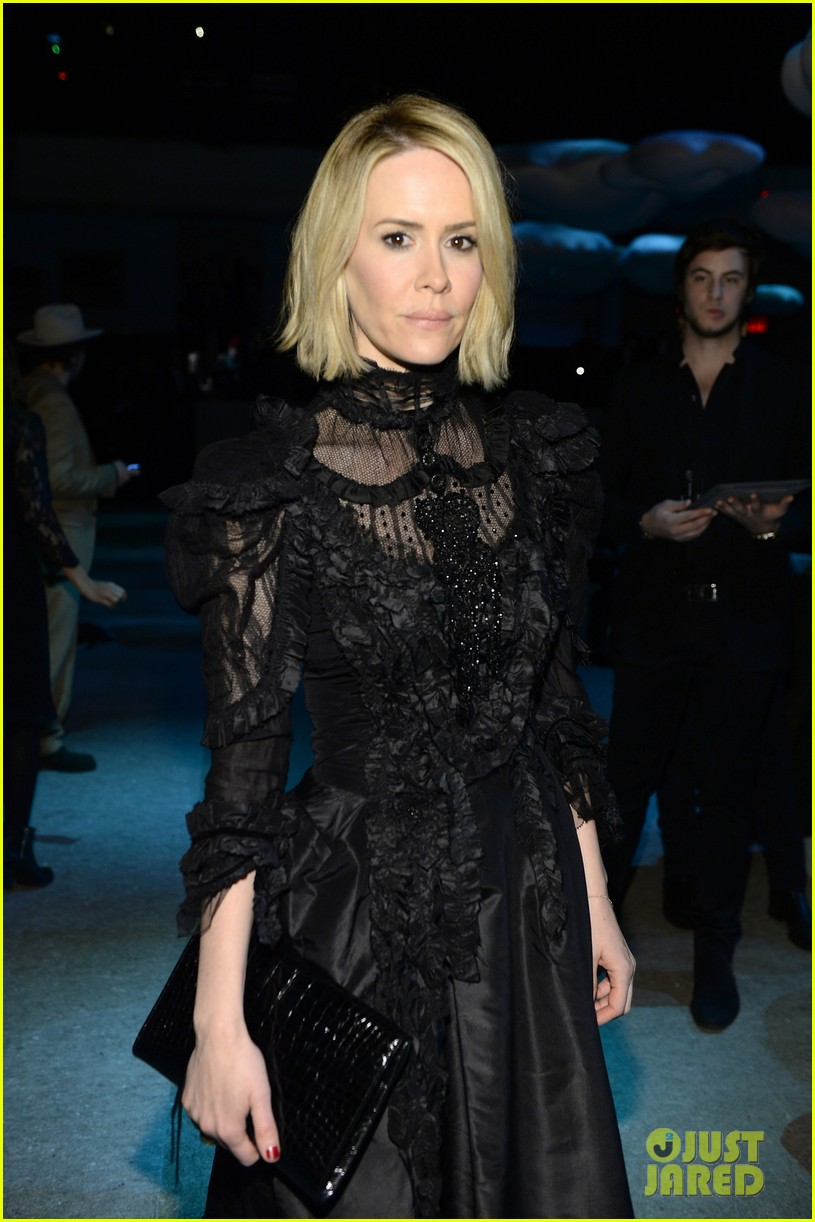 sarah paulson joe jonas end fashion week at marc jacobs 103053197