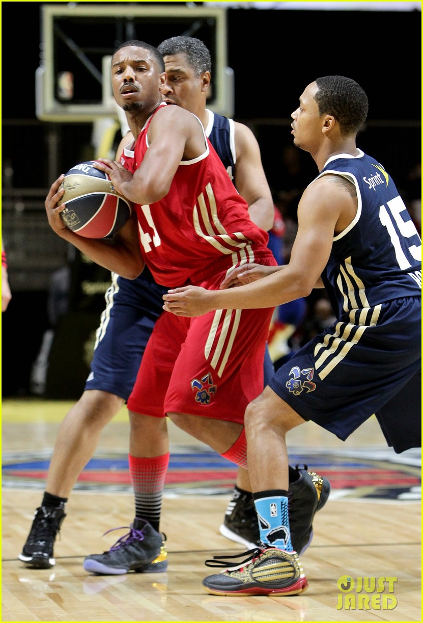 michael b jordan more play in nba all star celebrity game 19