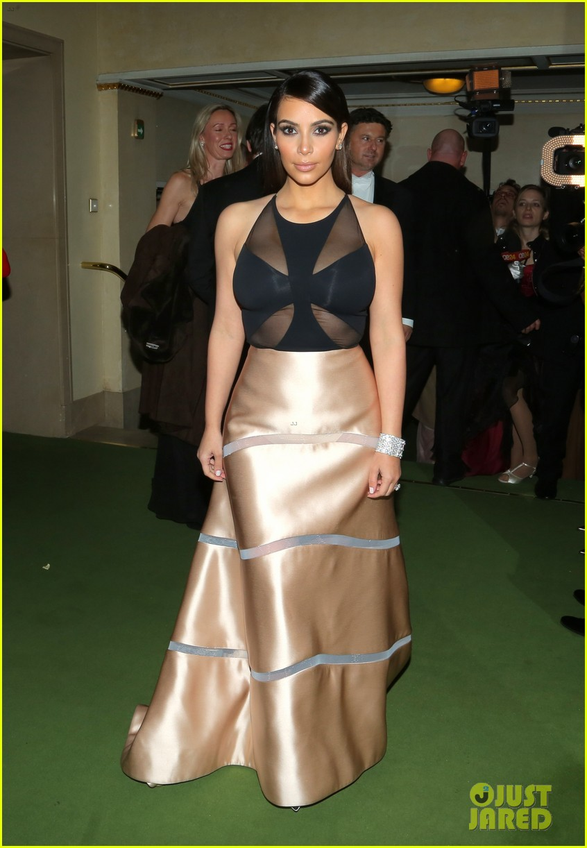 kim kardashian stuns in dress with sheer top at vienna ball 013061891