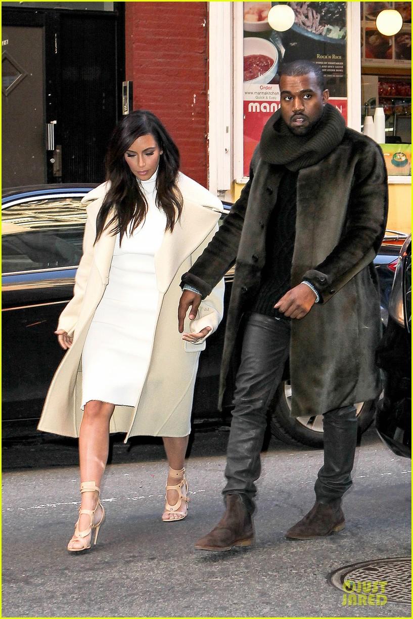 kim kardashian kanye west hold hands at abc kitchen 123058550