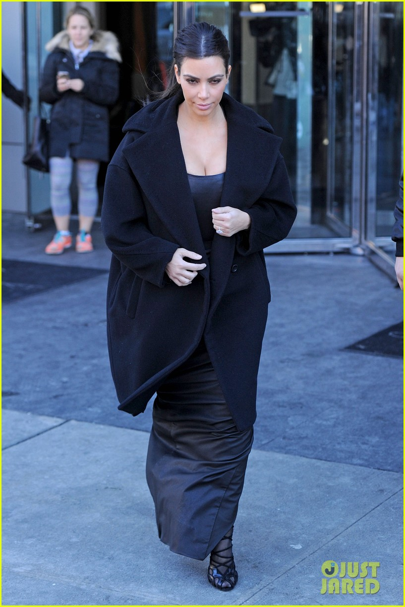 kim kardashian films kuwtk with her sisters khloe sends message on coat fxck yo fur 213055139