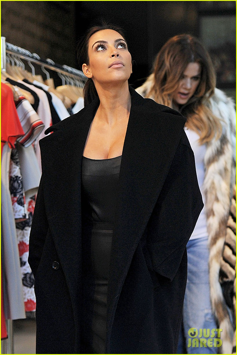 kim kardashian films kuwtk with her sisters khloe sends message on coat fxck yo fur 22