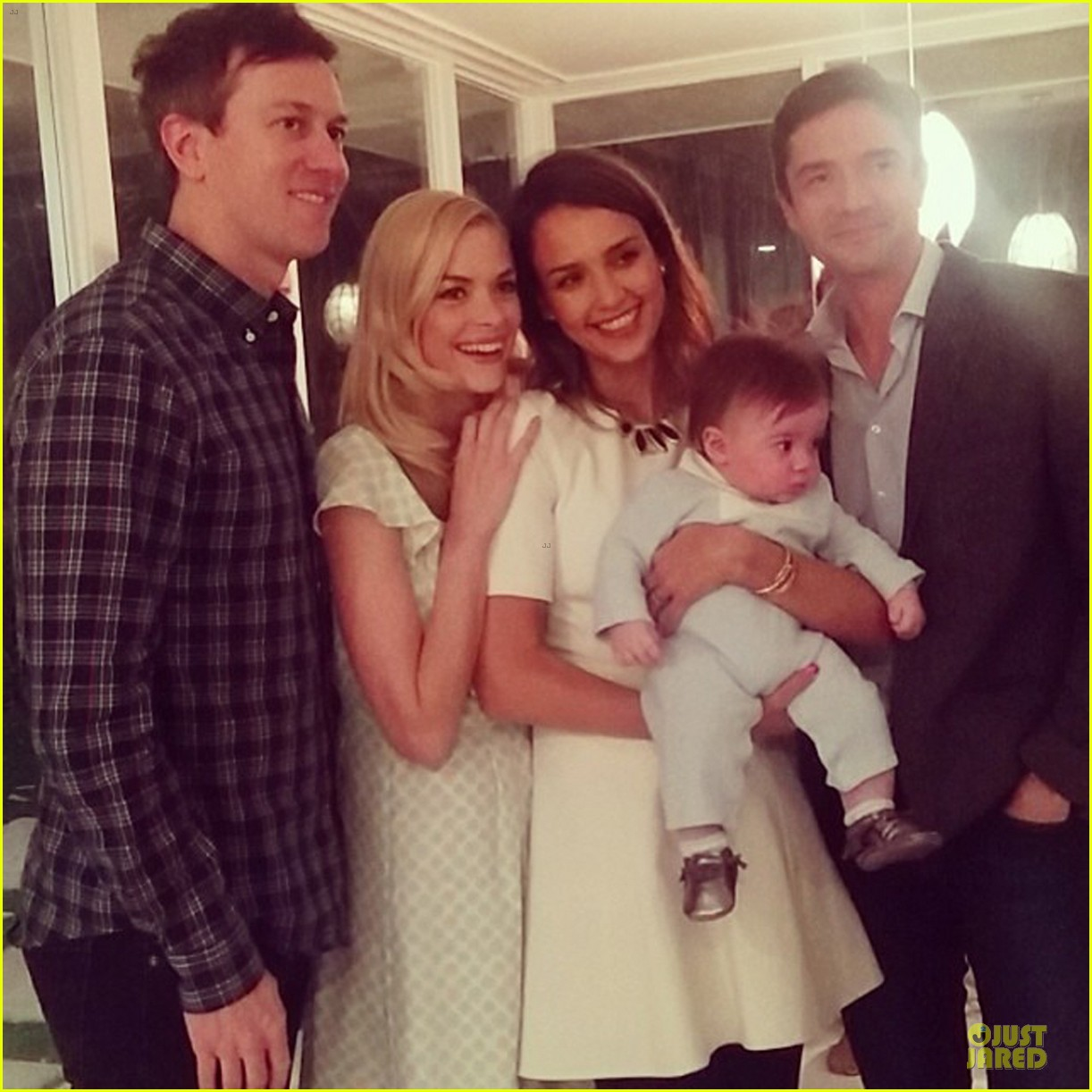 jaime king james knight blessing with godparents jessica alba topher grace 053058232