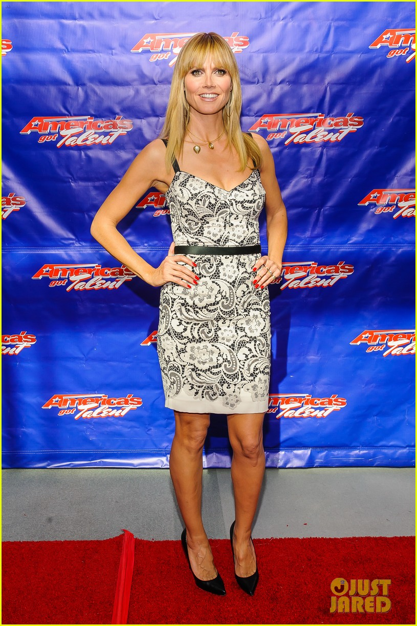 heidi klum mel b americas got talent season 9 photo call 02